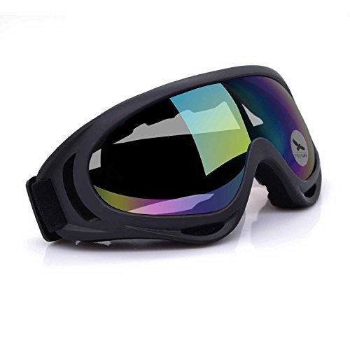 Motorcycle Goggles UV Protection Adjustable Outdoor Glasses Windproof Dustproof