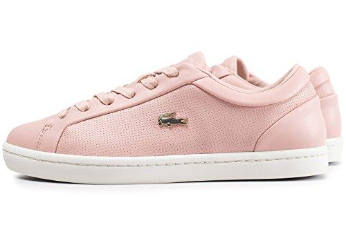 Lacoste Straightset Damen Sneaker Pink Pink