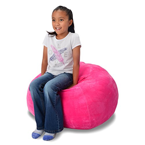 "Stuffed Animal Storage Bean Bag Pink Extra Large 38"" Size Extra Soft Perfect Storage Solution For Kids Stuffed Animals Toys Or Household Supplies Kids Organizer"