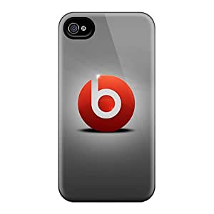 Durable Defender Case For Iphone 4/4s Tpu Cover(beats By Dre)