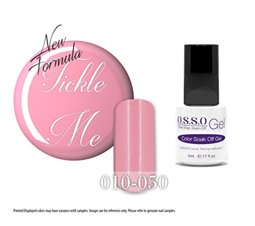 O.S.S.O Gel One-Step Soak-off Color Gel Polish (Tickle Me) (5ml)