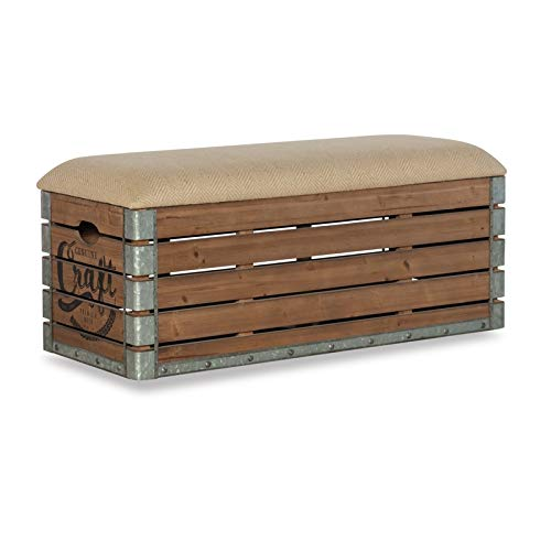 Powell Adria Storage Bench in Brown