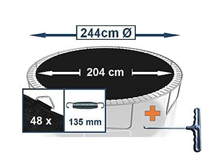 Cama elástica 244 cm de diámetro lona/de salto para 48 ojales ...