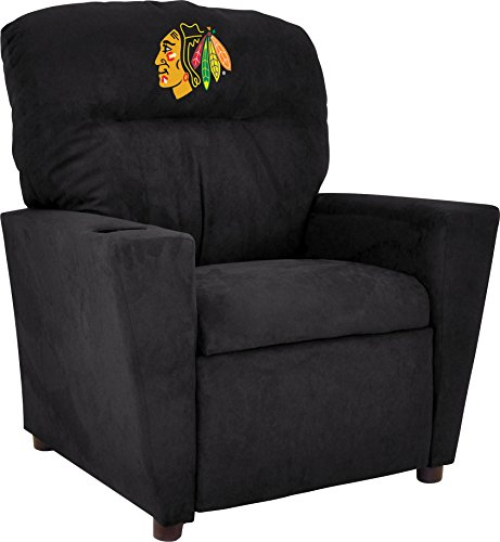 Imperial Officially Licensed NHL Furniture: Youth Microfiber Recliner, Chicago Blackhawks