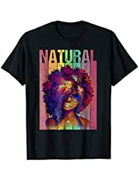 Natural Hair Beauty Girl Flag T-Shirt for 4th of July Gift
