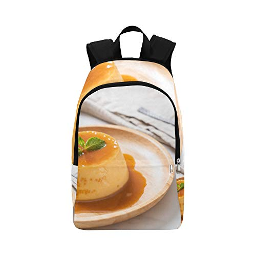 Homemade Caramel Custard Pudding Casual Daypack Travel Bag College School Backpack for Mens and Women