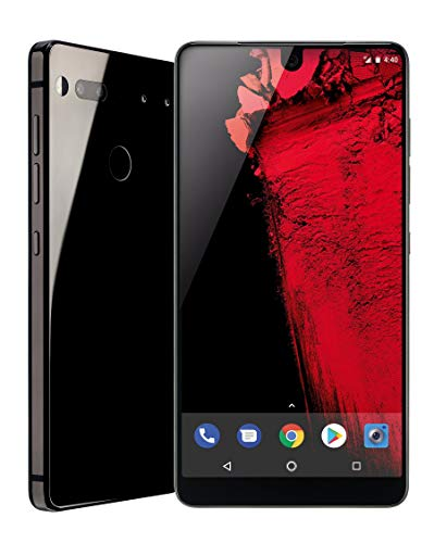 Essential Phone (128GB + 4GB RAM) 5.71in QHD, Water Resistant IP54, GSM/CDMA Factory Unlocked (AT&T/Sprint/T-Mobile/Verizon) - Black Moon (Renewed) (Android Phone)