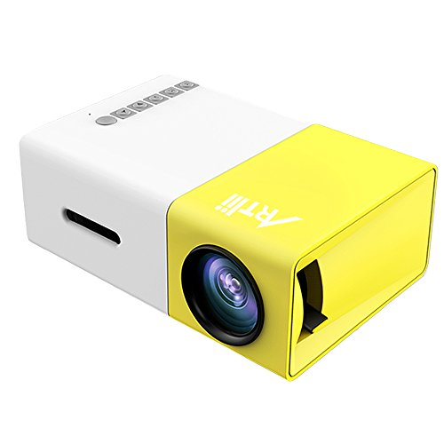 Mini projector artlii portable led projector home movie for Portable video projector
