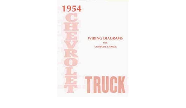 1954 chevrolet truck \u0026 pickup complete 10 page set of 1954 chevy blinker wiring technical