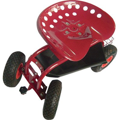 Ironton Rolling Garden Seat with Turnbar