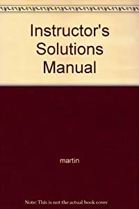 Paperback Instructor's Solutions Manual Book