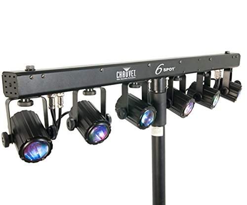 Chauvet 6 Spot Portable DJ (7) Head Color Spot Light Bar (Renewed)