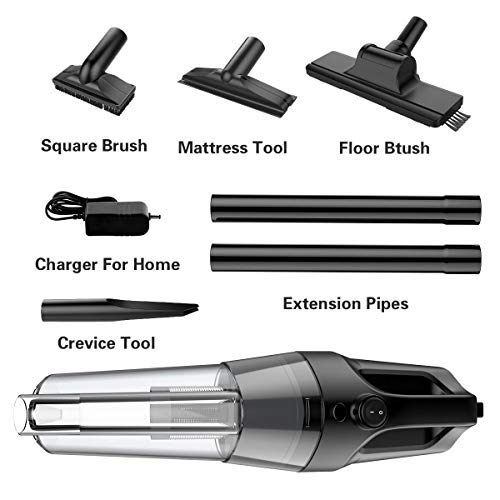 SOWTECH Cordless Vacuum Cleaner, Rechargeable Cyclonic Suction Stick Handheld Vacuum Cleaner 6 in 1 Multifunctional Stick Handheld Vacuum for Home, Hard Floor, Carpet, Car