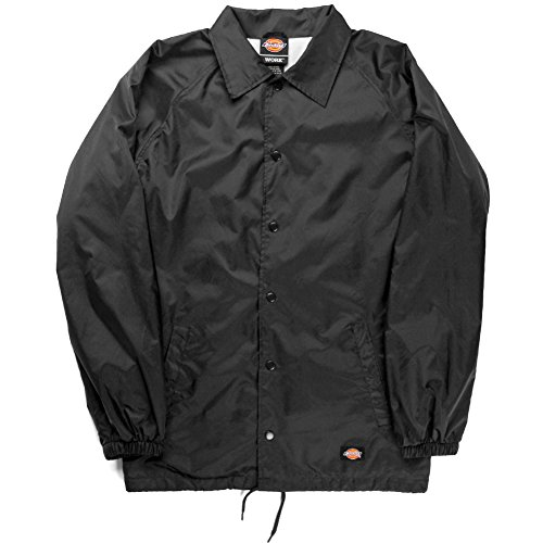 Dickies Men's Big Snap Front Nylon Jacket, Black, 3X (Front Nylon Snap Jacket)