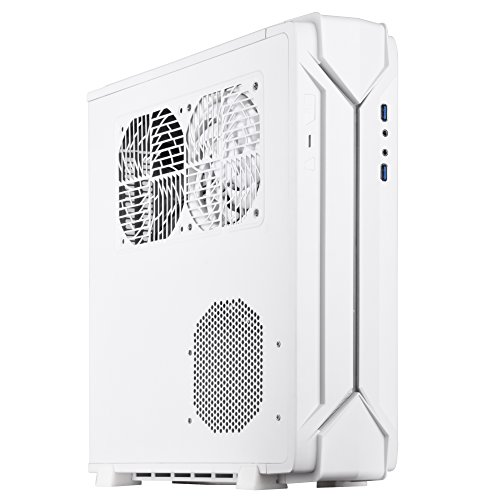SilverStone Technology Slim min-ITX Computer Case with RGB Lighting in White SST-RVZ03W Cases by SilverStone Technology (Image #1)