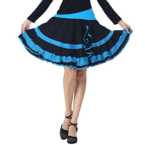 YoYoiei Women's Plus Size Elegant Ruffle Dancewear Party