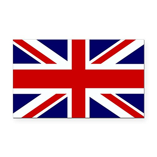 Rectangle Car Magnet Large British English Flag (Queen Rectangle Magnet)