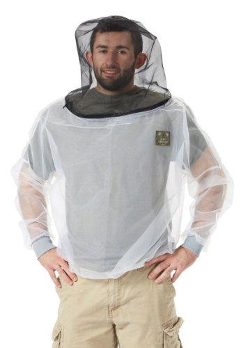 Bug Baffler Insect Protective Mesh Shirt, White, Small/Medium
