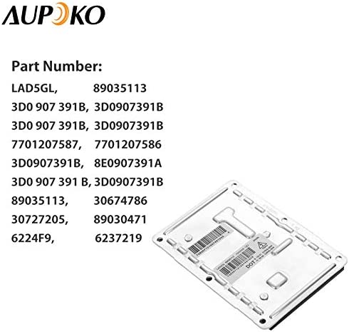 Premium Replacement Computer Module for 89035113 Updated Xenon HID Ballast Headlight Control Unit Assembly