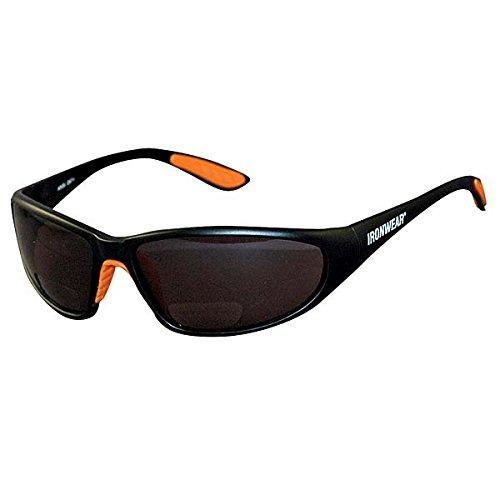Ironwear Bradford 3030 Series Nylon Protective Safety Glasses with 1.5 Bifocal Lens, Grey Lens, Black Frame ()