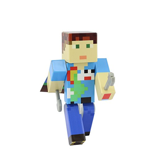 [Hippie Kid Action Figure Toy, 4 Inch Custom Series Figurines by EnderToys] (Mr Gold Lego Costume)