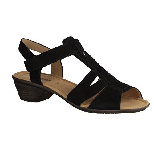 Gabor 24.541.17 sandales de fond élégant pour femme Noir - Noir OVoL8fwDu0