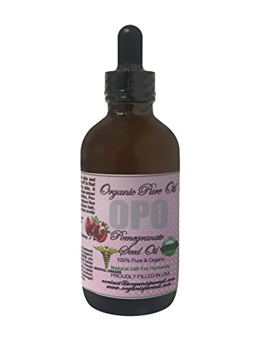 Pomegranate Seed Oil 4 Oz 100  Pure Natural Organic Unrefined Extra Virgin Cold Pressed Premium Pharmaceutical Grade Rich With Antioxidants For Skin Hair Nails Cuticles By Organic Pure Oil