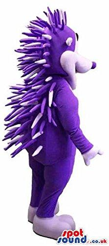 Porcupine Fancy Dress Costume (Customizable Purple Hedgehog Or Porcupine Animal SPOTSOUND US Mascot Costume)