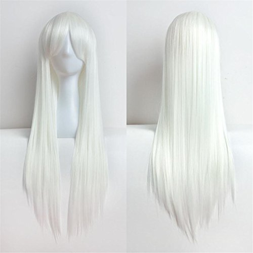 ABASSKY 80cm Full Wig Long Straight Wig Cosplay Party Costume Hair (Queen Of Hearts Costume Easy To Make)