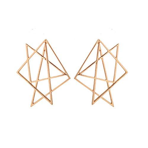 YUELILI Female Fashion Irregular Geometry Earrings