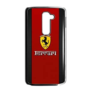 LG G2 Cell Phone Case Black Ferrari Personalized Plastic Cell Phone Case ILT