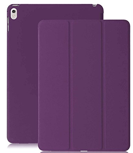 KHOMO iPad Pro 9.7 Inch Case (2016) - DUAL Purple Super Slim Cover with Rubberized back and Smart Feature (Built-in magnet for sleep / wake feature) For Apple iPad Pro 9.7 Tablet