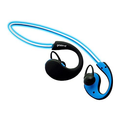 Groov-e Action Wireless Sports Earphones with LED Neckband - Blue by groov-e