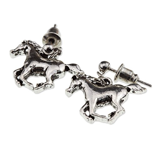 Galloping Prancing Horse Lover Earrings Gift for Girl Women (3 Piece Rodeo Girl)