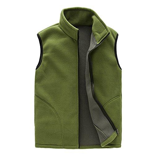 Breathable Body Green Gilet Aire Soft Warmer Fleece Zipper Vest Sports Mens Zhhlinyuan Mens Al Unisex Outwear Womens Libre Shell Stq4Wpw1g