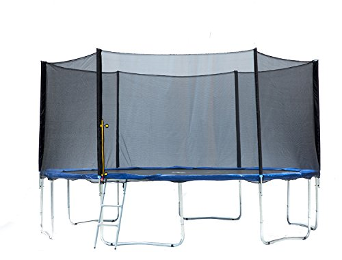 Exacme 6182-S15 Trampoline Heavy Duty Frame with Safety Pad & Enclosure Net & Ladder, 15'