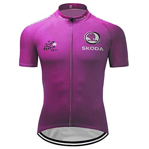 Men's Cycling Jersey Set Bike Jersey Bicycle Shirts Summer Breathability Short Sleeve Clothing C168 (M, XXXL)