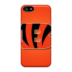 Protective Hard Cell-phone Cases For Iphone 5/5s With Allow Personal Design Nice Cincinnati Bengals Series SherieHallborg