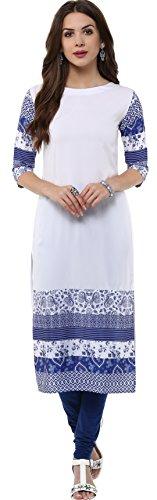 Janasya-Womens-White-Casual-Crepe-Kurti