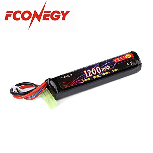 FCONEGY 3S 11.1V 1200mAh 20C Lipo Battery Pack with Small Tamiya Plug for Airsoft - 11.1v 20c Lipo Battery