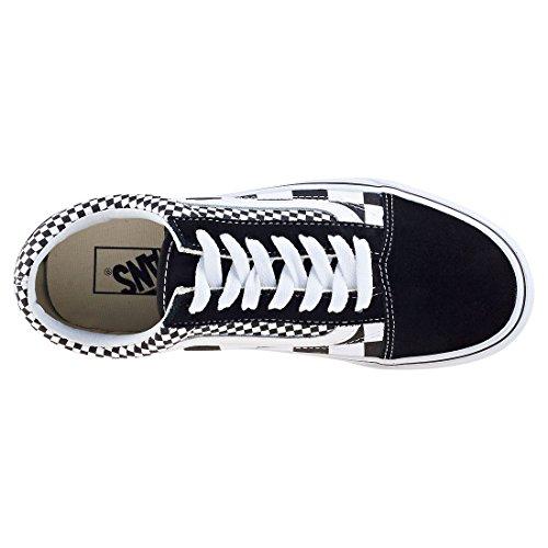 Vans Unisex Old Skool Skate Shoes Checkers/Black/True White 7.5 B(M) US Women/6 D(M) US Men by Vans (Image #4)