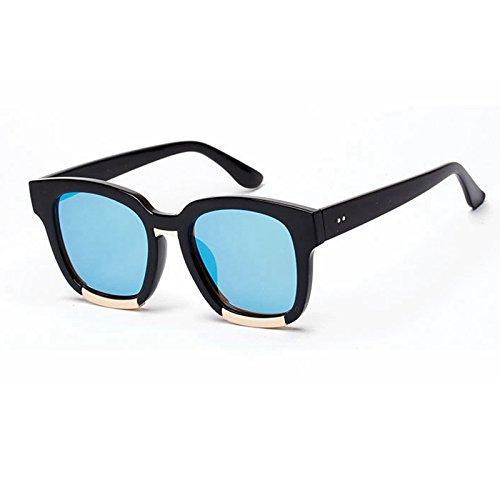 para de Mujer UV400 Retro negro Sunglasses Viola de hembra la TL gafas gafas sol de Gafas rojo de sol sol sobredimensionado ICxvX