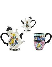 Zestaw dzbanków do herbaty z filiżanką, Alicja w Krainie Czarów