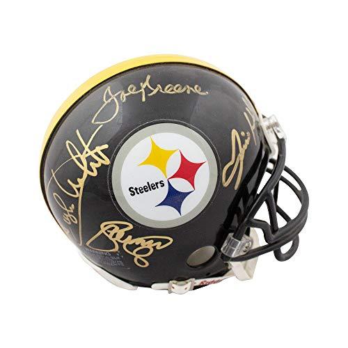 Steel Curtain Autographed Pittsburgh Steelers Black Mini Helmet - JSA COA ()