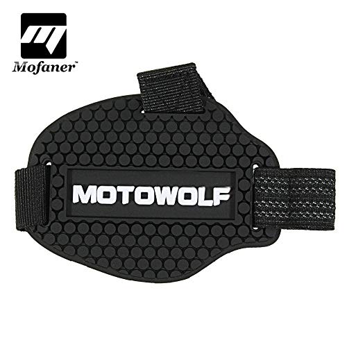 Sala-Ctr - Black Rubber Motocross Shift Pad Motorcycle Gear Shifter Shoe Boots Protector Shift Sock Motorbike Boot Cover