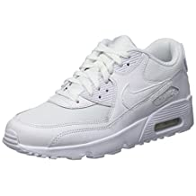 Nike Youths Air Max 90 Mesh Leather Trainers