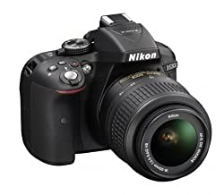 Nikon D5300 24.2 Mp Cmos Digital Slr Camera With 18-55mm F3.5-5.6g Ed Vr Auto Focus-s Dx Nikkor Zoom Lens (Black)
