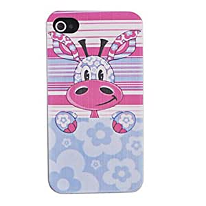 Joyland Colorful Donkey Pattern Relief Back Case for iPhone 4/4S