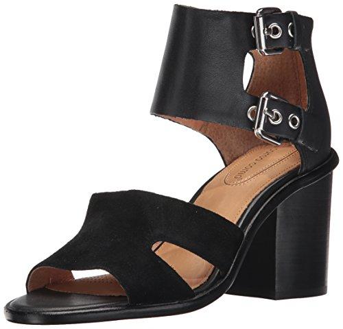 Opportunity Shoes - Corso Como Women's September Heeled Sandal,black burnish calf/black suede,7.5 Medium US