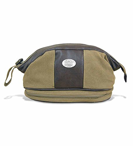 ZeppelinProducts OSU-BTX1-KHK Ohio State Toiletry Bag Waxed Canvas, 12 x 7 x 7 from ZEP-PRO
